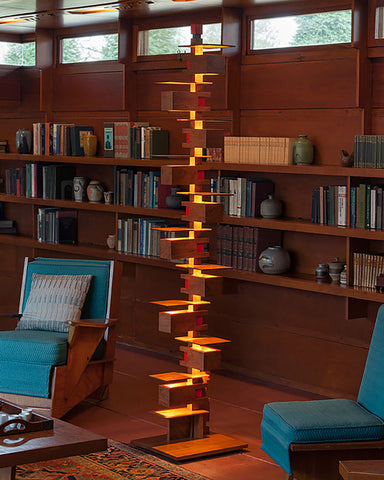Taliesin 2 Floor Lamp - Cherry indoor