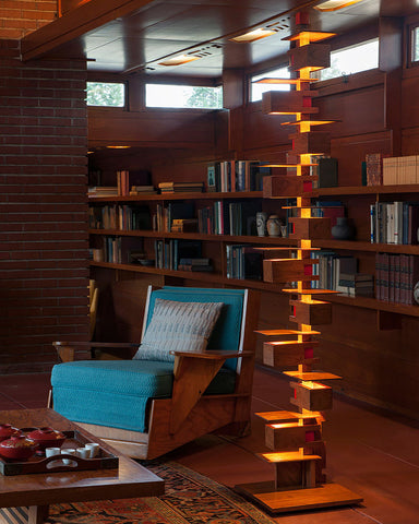 Taliesin 2 Floor Lamp - Cherry indoor 2