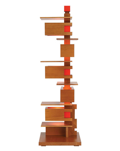 Frank Lloyd Wright Taliesin 3 Table Lamp - Cherry front view
