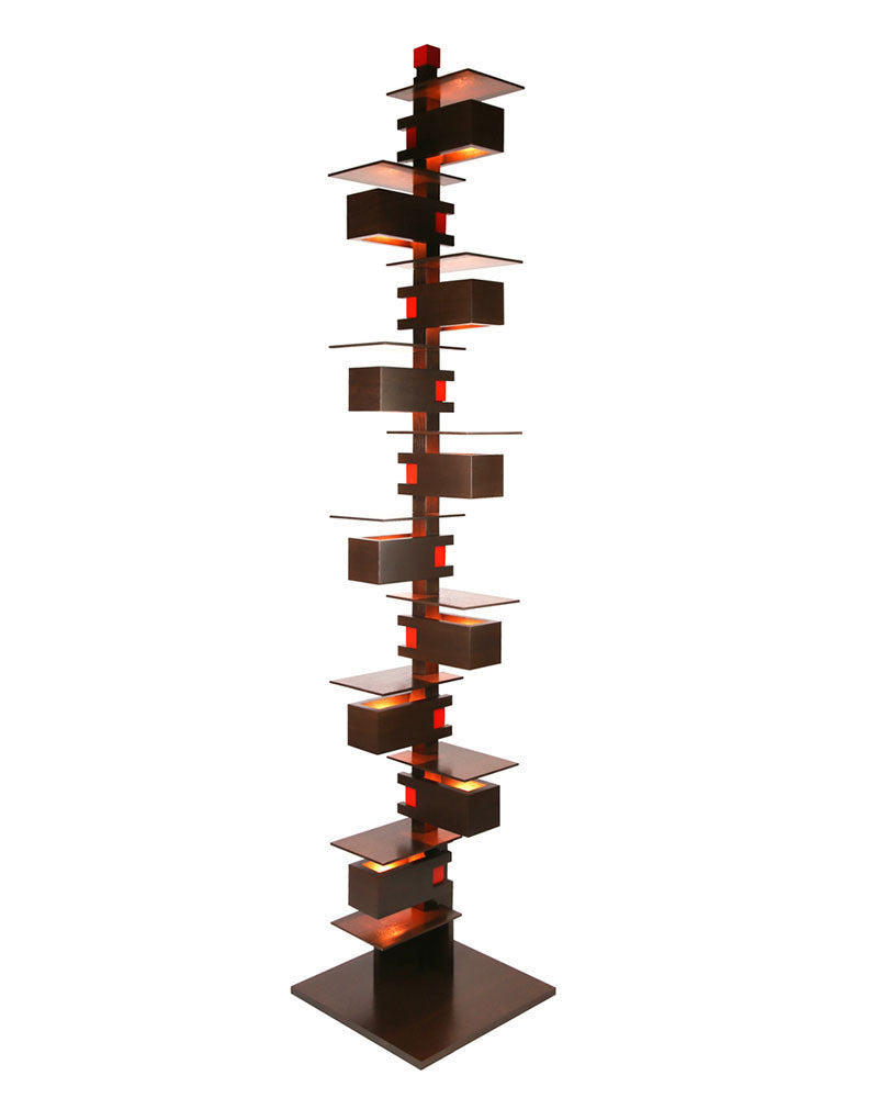 Frank Lloyd Wright Taliesin 2 Floor Lamp   Walnut