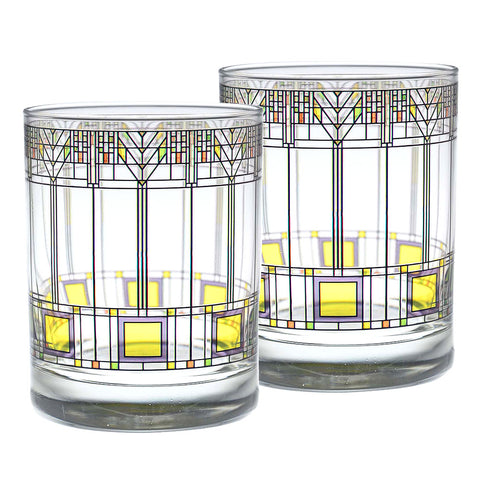 Frank Lloyd Wright Tree of Life DOF Glasses (Set of 2)