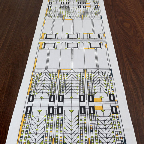 Frank Lloyd Wright Tree of Life Table Runner
