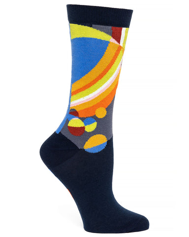 Frank Lloyd Wright Women's Socks March Balloons -  Navy