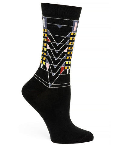 Frank Lloyd Wright Women's Socks Tree of Life - Black