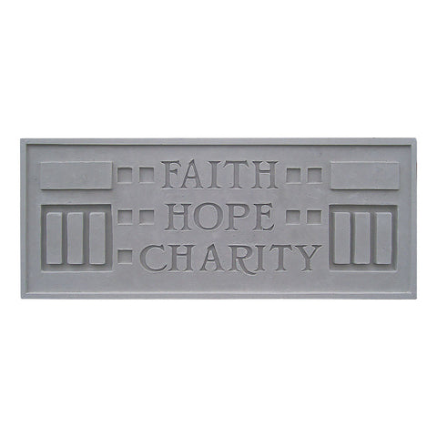 Frank Lloyd Wright Larkin Cast Stone Plaque - Faith