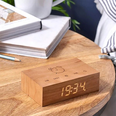 Gingko Flip Click Clock - Cherry