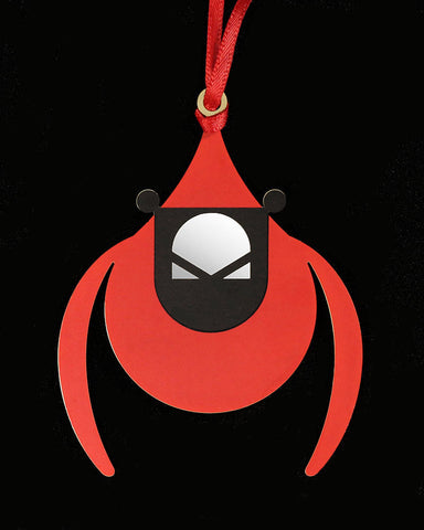 Charley Harper Brass Flying Cardinal Ornament Adornment