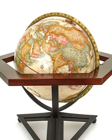 Frank Lloyd Wright Hexagon Desk Globe closeup