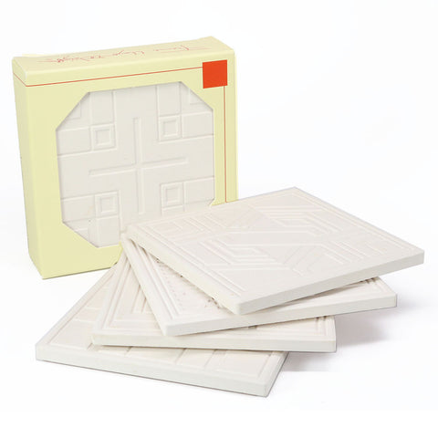 Frank Lloyd Wright® Textile Block Designs Etched Sandstone Coasters