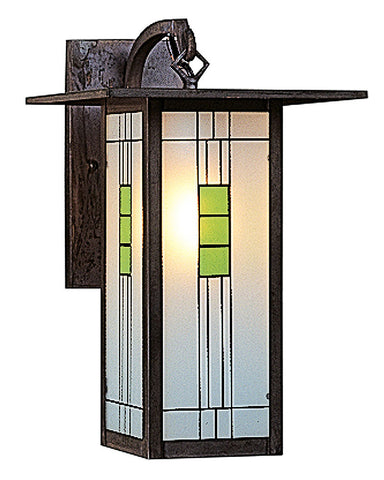 Franklin FB-9L Wall Sconce by Arroyo Craftsman - Green and Black