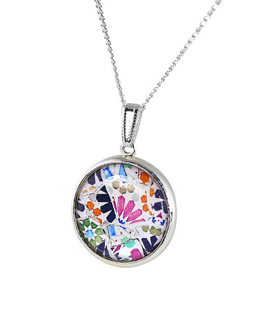 Gaudi Mosaic Pendant Necklace