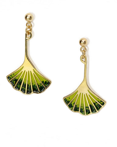 Ginkgo Leaf Earrings