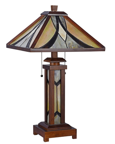 Arts Crafts Gordon Lighted Base Table Lamp Maclin Studio