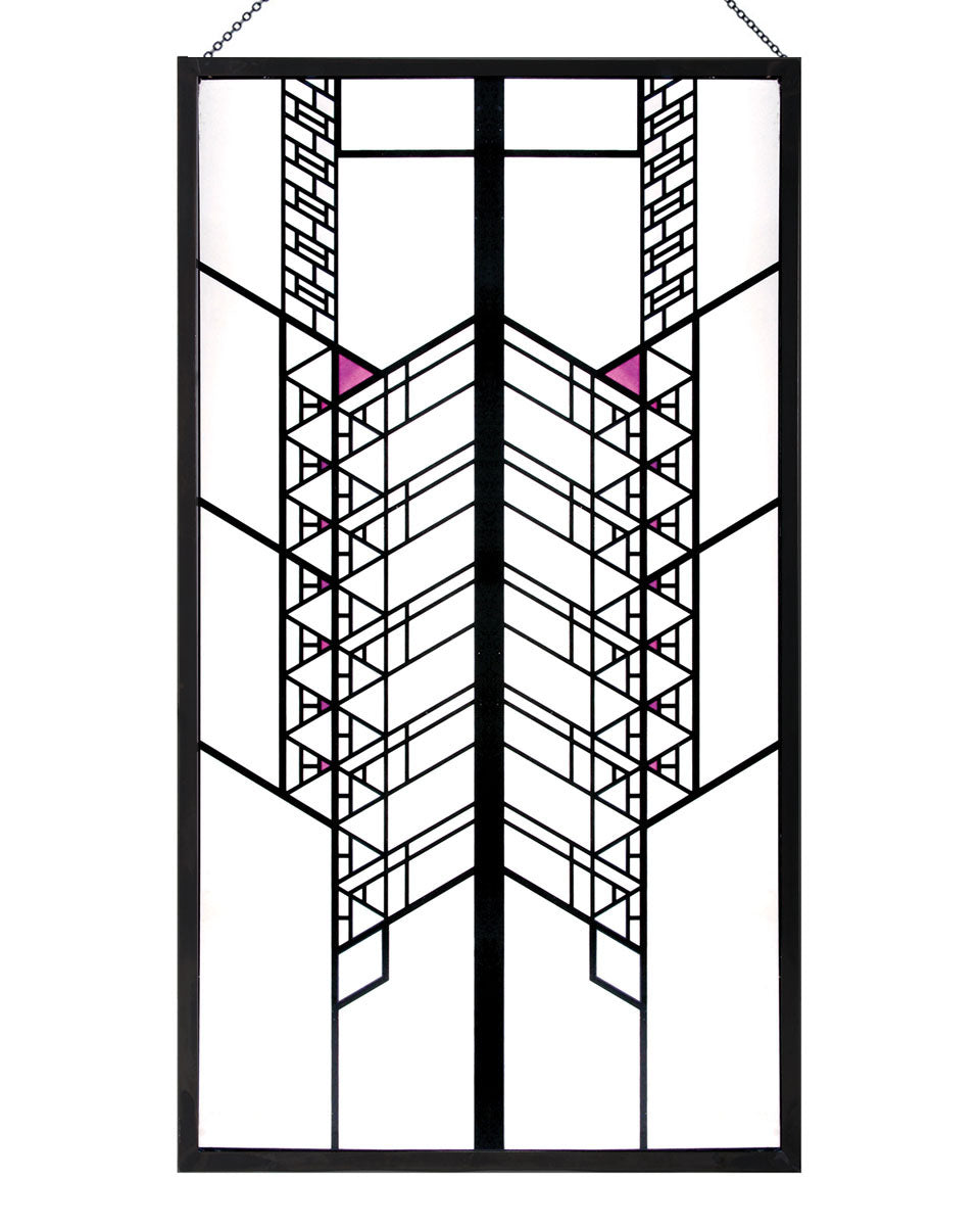 Frank Lloyd Wright Hollyhock House Stained Glass Maclin