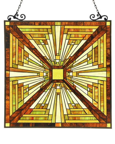 Arts & Crafts Innes Stained Glass Panel