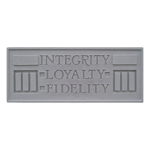 Frank Lloyd Wright Larkin Cast Stone Plaque - Integrity