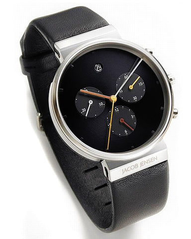 Jacob Jensen 603 Black Chronograph Watch