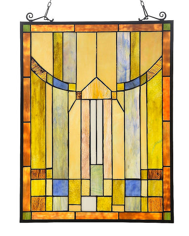 Arts & Crafts Kinsey Stained Glass Panel