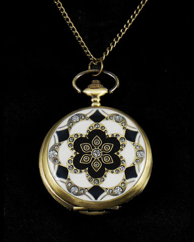 Vintage Style Art Deco Pocket Watch