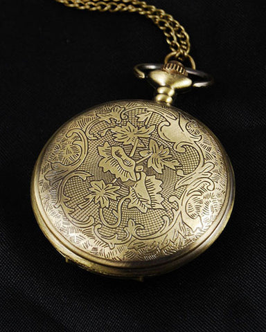 Vintage Style Art Deco Pocket Watch Pendant 2