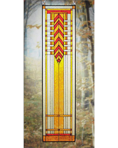 Tall Art Glass Panel 7
