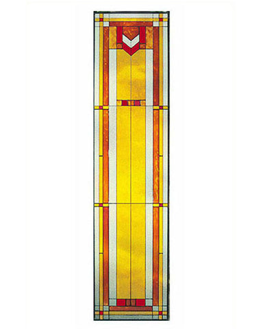 Tall Art Glass Panel 9 Inset