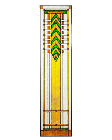 Tall Art Glass Panel 5 Inset
