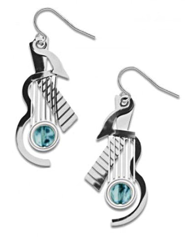 Cubist Guitar Earrings