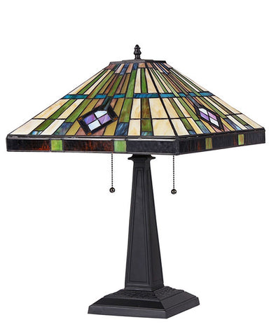 Stained Glass Arts & Crafts Martin Table Lamp