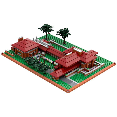 Frank Lloyd Wright Darwin D. Martin House Architecture Building Brick Set Top 1