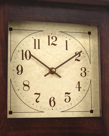 Amish McCoy Craftsman Mantel Clock - Brown Maple