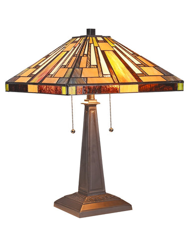 Arts & Crafts Merton Stained Glass Table Lamp