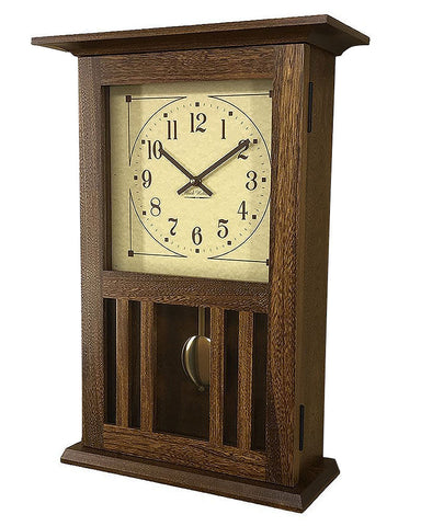 Amish Craftsman Mission Wall Clock - Elm