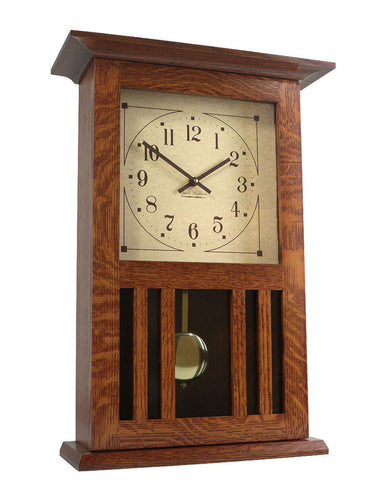 Amish Mission Craftsman Wall Clock