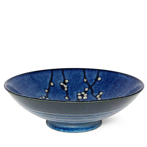 "Japanese Namako Blossoms 9.75"" Serving Bowl"