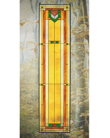 Tall Art Glass Panel 8