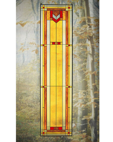 Tall Art Glass Panel 9
