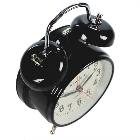 Newgate London Black Alarm Clock top