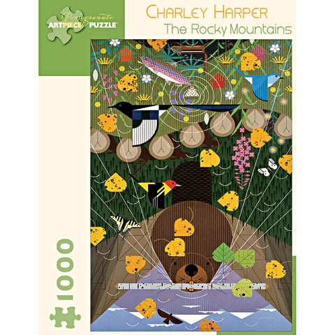 Charley Harper The Rocky Mountains 1000 Piece Jigsaw Puzzle