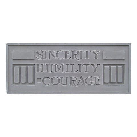 Frank Lloyd Wright Larkin Cast Stone Plaque - Sincerity