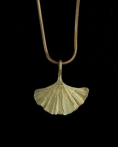 Ginkgo Leaf Pendant by Michael Michaud