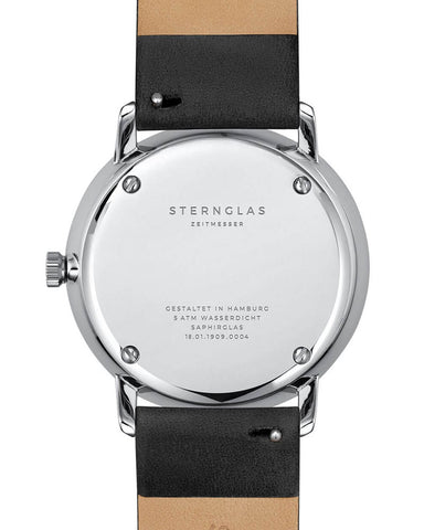Sternglas Naos Sunburst Blue / Black Watch back
