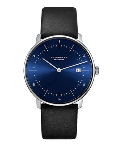 Sternglas Naos Sunburst Blue / Black Watch Front