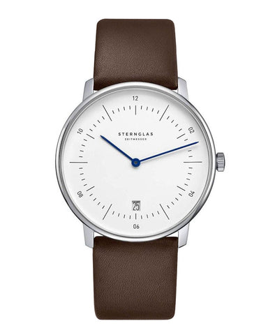 Sternglas Naos White / Brown Watch Front