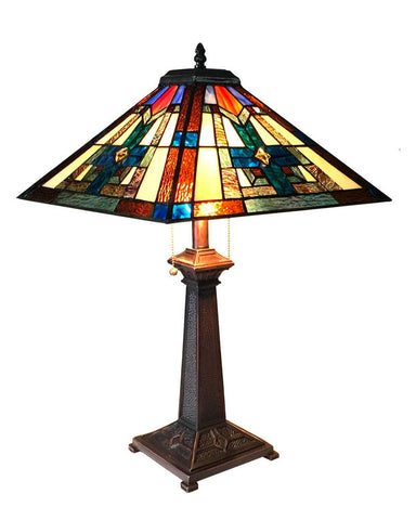 Arts & Crafts Taite Stained Glass Table Lamp
