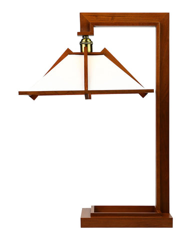 Frank Lloyd Wright Taliesin 1 Table Lamp - Cherry - Side