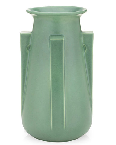 Teco Four Buttress Vase - Green
