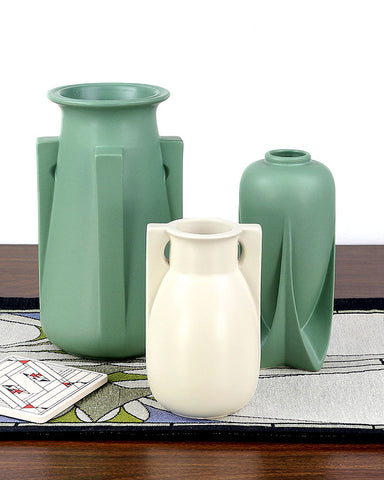 Teco Vase - Four Buttress Green