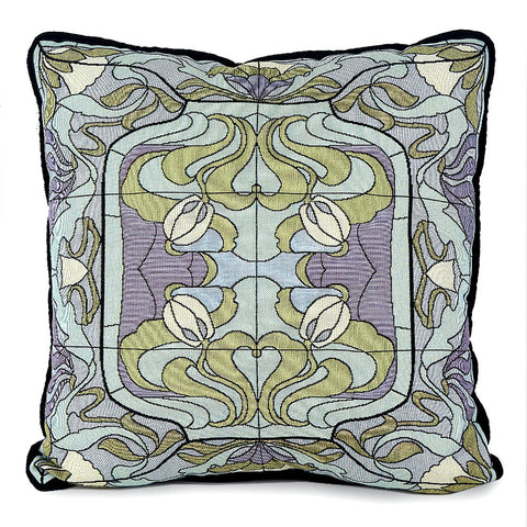 Arts & Crafts Thistle and Rosebud Warm Mist Pillow