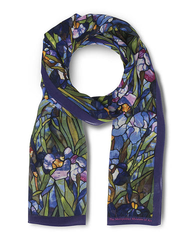 Louis C. Tiffany White Iris Scarf Loop